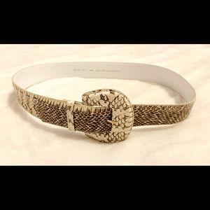 Tan Brown Natural Genuine Python M/L Belt